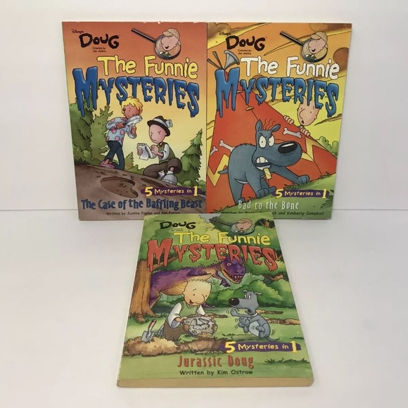 Lot of 3 Doug Funnie Mysteries Series Disney Books